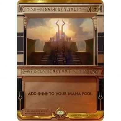 MTG Amonkhet Masterpiece Invocation *Dark Ritual*