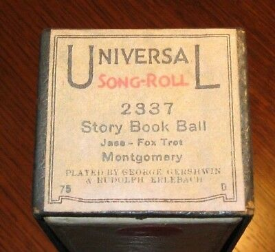Story Book Ball Themodist Plyd By Gershwin & Erlebach Original Piano Roll 0318