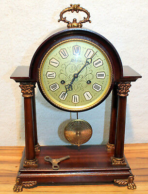 Old Particular table clock Portico beautiful piece**Franz Hermle & Sohn**