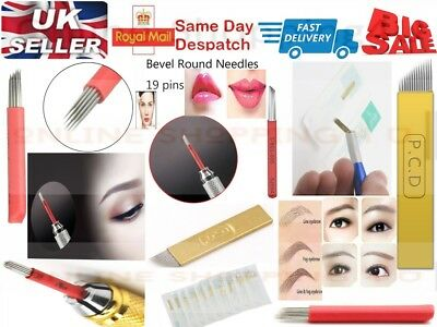 Tattoo Bevel 3D Round Needles for Manual Pen Permanent Fog Eyebrow Microblading