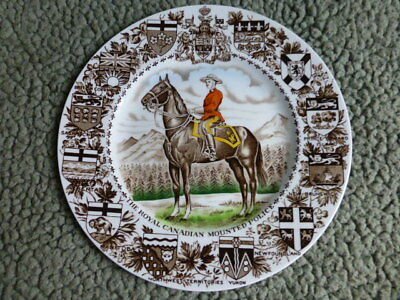 Wood and Sons Royal Canadian Mounted Police Commemorative Plate w/ Wall Mount