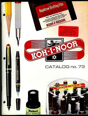 KOH-I-NOOR Rapidograph Professional Drawing Pens Products Vintage 1974 Catalog