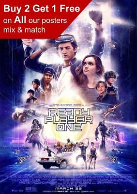 Ready Player One Movie Poster A5 A4 A3 A2 A1