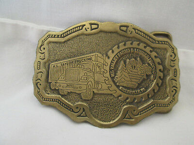 New H L Taylor Trucking Brass Buckle Mt. Valley Farms & Lumber Biglerville, PA