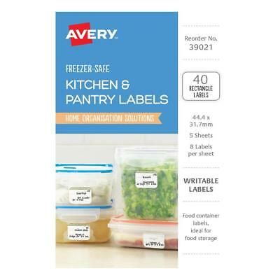 Avery Kitchen & Pantry Labels 44.4 x 31.7mm 40 Pack 22872