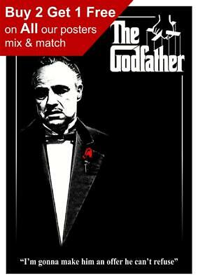 The Godfather Classic Movie Poster A5 A4 A3 A2 A1