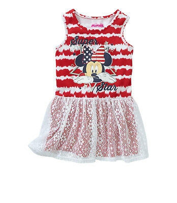 0db1a6da2f3bd Disney Minnie Mouse Baby Toddler Girl Sleeveless Dress with Lace Overlay  Size 2T