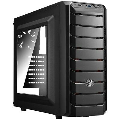 Cooler Master CMP 500 Mid Tower Window Case w 600W PSU USB3.0 Black