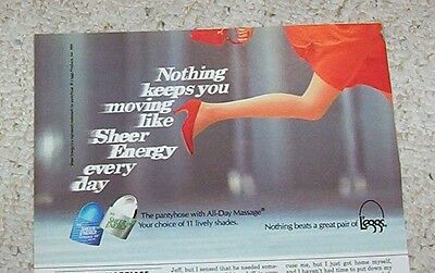 1992 print ad - L'eggs Sheer Energy pantyhose girl legs hosiery vintage ADVERT