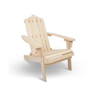 NEW Sun Loungers Hamptons Adirondack Foldable Deck Chair - Natural