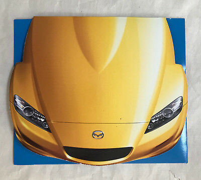 Mazda RX-8 rotary shaped CD-ROM 2003 brochure, NEW and RARE
