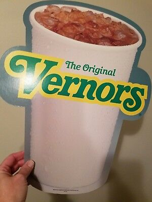 Vernors double sided cardboard sign NEW with hanger