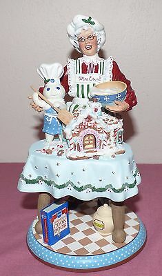 2001 Danbury Mint Pillsbury Doughboy Mrs. Claus Favorite Baker Sculpture Figure