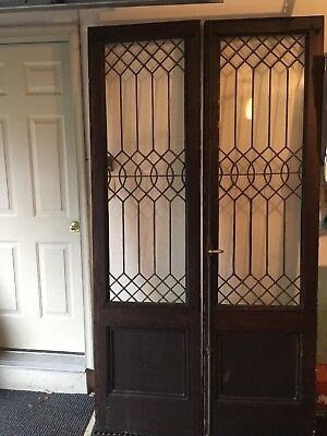 Vintage French Leaded Doors