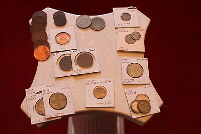 Lot Of 27 England Coins, Some Silver Some Better Dates