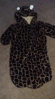 Donna Salyers Fabulous Furs Baby Bunting Giraffe Infants Size 6-12 Months