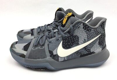 96cf47fe629d Nike Kyrie 3 Mens Basketball Shoes Girls EYBL Rare Sample Grey SZ 7  942206-002