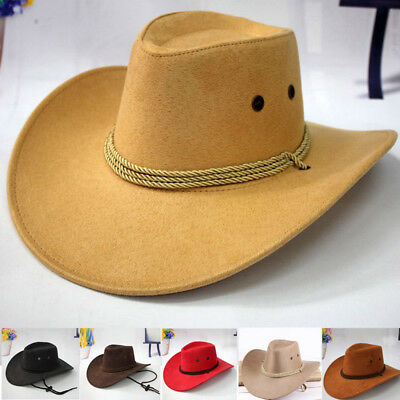 a1ff227f1ef Retro Western Cowboy Cowgirl Hat Men Riding Cap Fashion Wide Brim Crushable