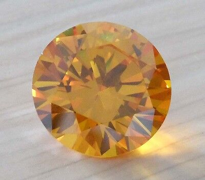 Unheated Many Sizes AAA Yellow Sapphire Round Faceted Cut VVS Gem U Pick Size