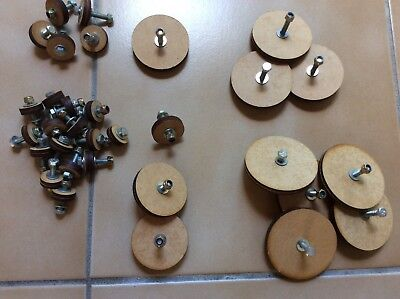 Doll Or Bear Joints Wooden  With Screws Etc. 32 Various Sizes