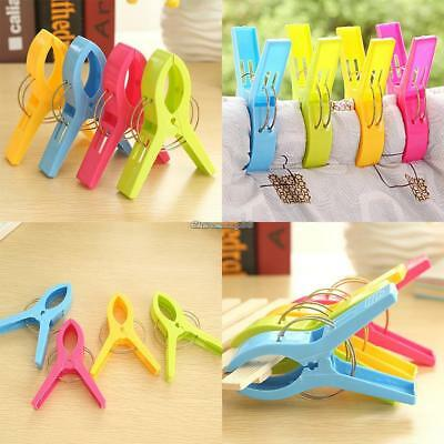4 Pcs Large Plastic Beach Towel Pegs Bedclothes Quilt Clips Tools Home C1MY
