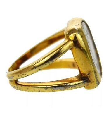 pre-loved authentic HERMÈS ring size 6.5 BIJOUTERIE FANTAISIE carved shell