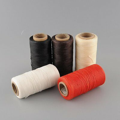 260Meter 1mm 150D White Leather Wax Thread Cord for DIY Hand Stitching