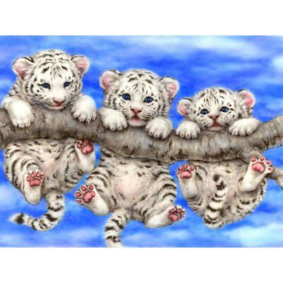 5D DIY Tigers Diamond Wall Painting Embroidery Cross Stitch Mosaic Decor