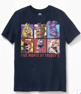 FNAF Five Nights At Freddy's T-Shirt Old Navy Collectabilitees - NWT! Free Ship