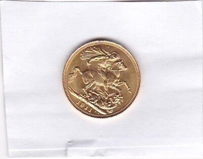 1911S Gold Sovereign In Extremely Fine Condition