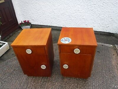 Pair  Of  Vintage  Retro  Bed  Side  Cabinets.    A  Left  &   Right.