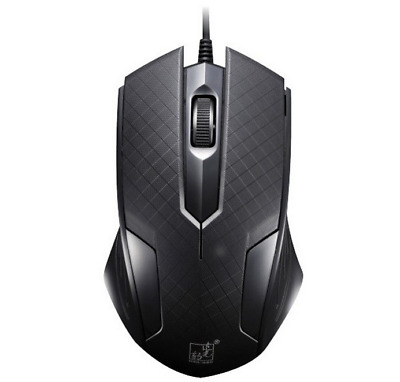 1600 DPI Optical USB Wired Gaming Mouse Mice For Laptop/Desktop/PC - Black