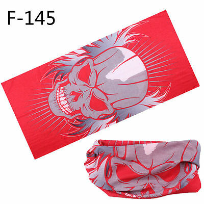 1x Wicked RED GREYSKULL + WINGS Tube Face Cover Bandana(T13)SKULL BOYZ SA