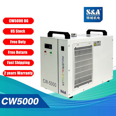 S&A Genuine CW-5000 DG 110V  Water Chiller Cool 80W 100W CO2 Laser Tube US Ship