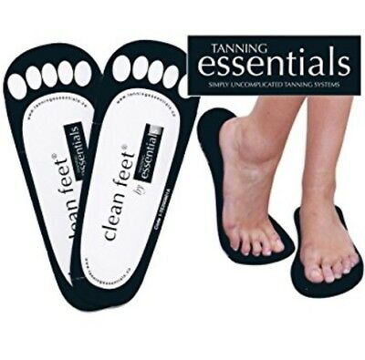 Clean Feet By Tanning Essentials Black Sticky Feet Spray Tan Accessories 20 Pair