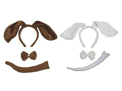 Halloween Animal Dog Headband Bow Tail 3p Kid School Party Costume