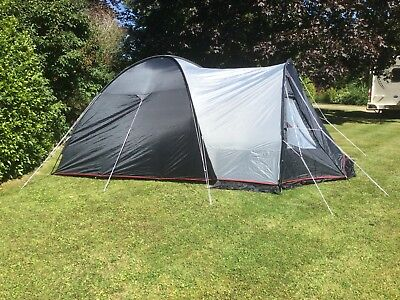 Eurohike stowe 4 man tent blue good condition & 4 man tent used - £12.00 | PicClick UK