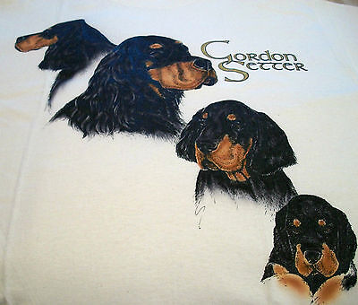 "Gordon Setter T-shirt  "" Natural "" 2XL ( 50 ~ 52 )"