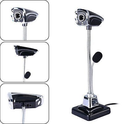 Bendable Full HD 1080P 12MP Web Cam Webcam HD Camera + MIC for Computer PC Table