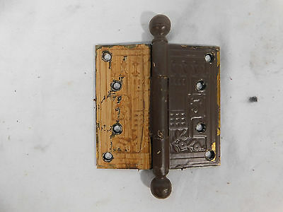 """Antique 4"""" Eastlake Style Door Hinges - C. 1885 Ball Top Architectural Salvage"""