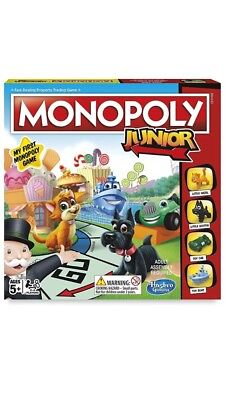 Hasbro Monopoly Junior Board Game - Fun Family Kids Gift Brand New & Sealed