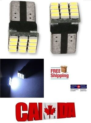 2pcs 12SMD White 6000K LED T10 194 158 168 912 Car Dome License Plate Light Bulb