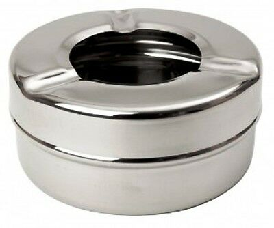 "6 x Ashtray Windproof Stainless Steel 31/2"" Outside Ashtray Mirror Finnish B3706"