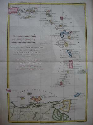 1780 - BONNE - Map WEST INDIES  Carte des Isles Antilles