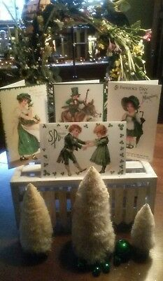 St. Patrick's Day☆Set Of 4☆Greeting Cards☆ The Merck Family Old World Christmas