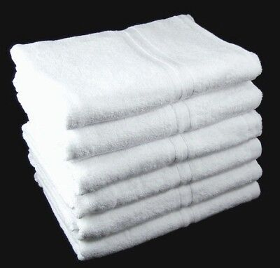 White Wholesale Towels Hand and Bath Hotel Style 100% Cotton 450gsm Quality
