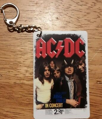 ACDC Credit Card Style Key Chain / Double Sided..Brand New