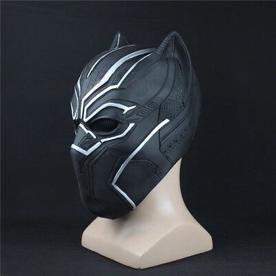 Black Panther Mask Marvel Superhero Cosplay Latex Party Mask