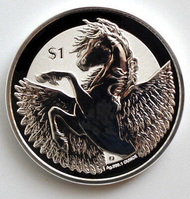2018 1 oz .999 Pegasus  Reverse Frosted Silver Bullion Coin