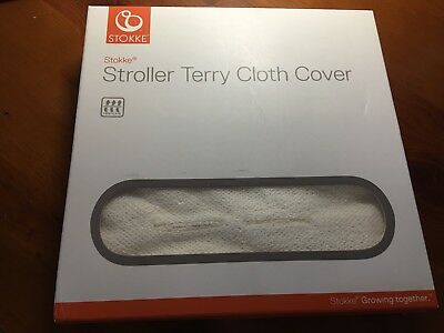 NEW $45 STOKKE Stroller Terry Cloth Cover for Xplory Trailz & Crusi Strollers